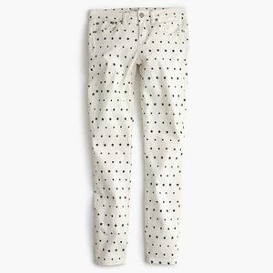 J. Crew brushed twill star jeans NWT